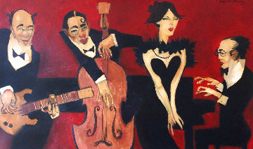 Peyroux 2004 38x61 Original Painting - Clifford  Bailey