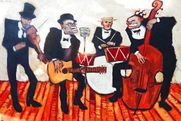 Tout Le Jour Toute La Nuit 1999 48x72 Super Huge Original Painting - Clifford  Bailey