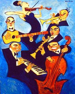 Blue Bayou 2007 54x66 Super Huge Original Painting - Clifford  Bailey