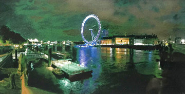 London Eye 2010 19x23 Original Painting - Darren Baker
