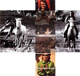 Intersection Series - Person on Horse And Person Falling From Horse, (With Audience) 2002 Limited Edition Print - John Anthony Baldessari