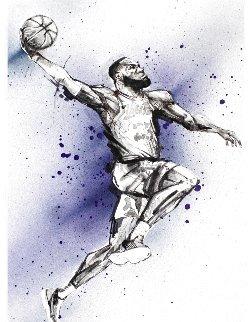 Lebron Dunk 2019 Embellished Limited Edition Print - Johnathan Ball