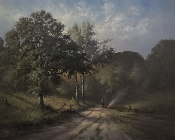 In the Heart of the Forest 2000 40x46 Huge Original Painting - Andre Balyon