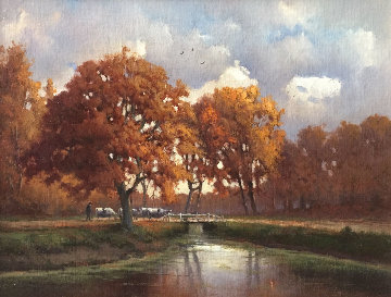 Autumn Afternoon 17x20 Original Painting by Andre Balyon