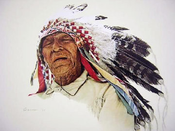 A Crow Indian 1977 Limited Edition Print - James Bama