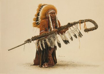 Ceremonial Lance 1991 Limited Edition Print - James Bama