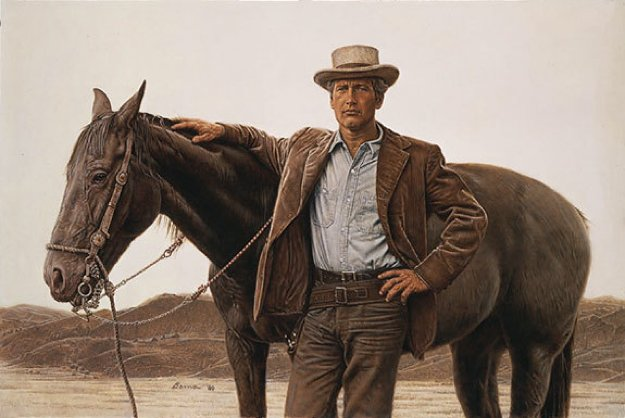 Paul Newman As Butch Cassidy  1990 Limited Edition Print by James Bama