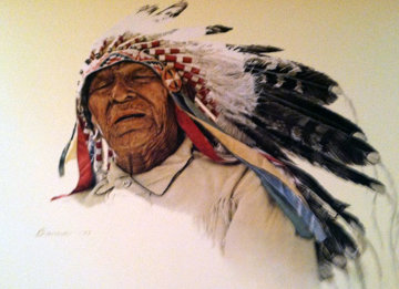 A Crow Indian Bama 1977 Limited Edition Print by James Bama