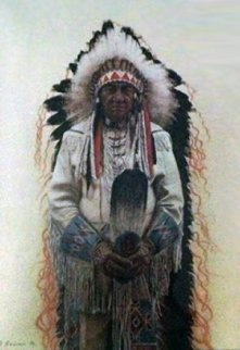 Shoshone Chief 1974 Limited Edition Print by James Bama