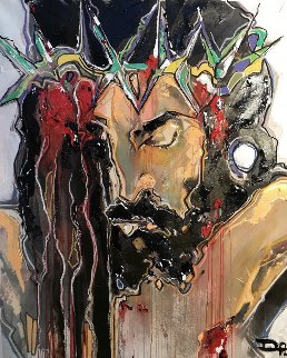 Jesus Embellished 2017 Super Huge Limited Edition Print - David Banegas