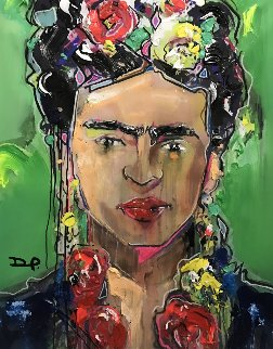 Frida Embellished 2017 Super Huge Limited Edition Print - David Banegas