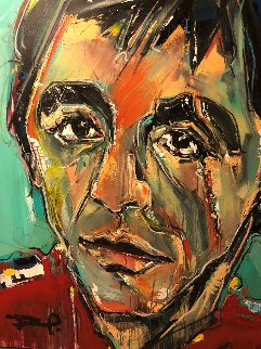 Tony 2010 52x42 Original Painting - David Banegas