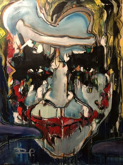 Joker 2012 52x42 Original Painting by David Banegas