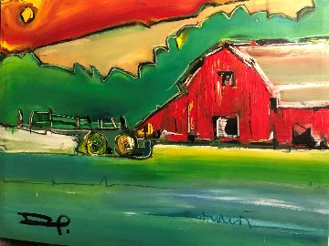 Landscape 2012 40x51 Original Painting - David Banegas