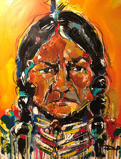 Sitting Bull 2012 51x40 Original Painting by David Banegas