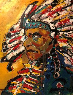 Chief 2012 51x40 Original Painting by David Banegas