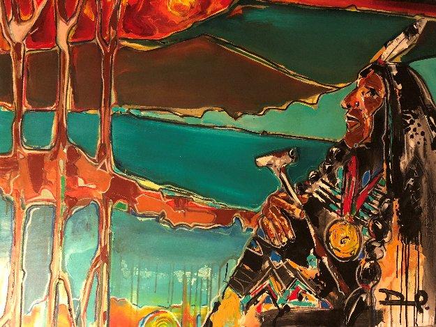 Chief 2012 36x48 Original Painting by David Banegas