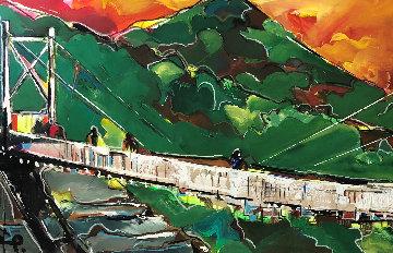 Landscape 2012 32x84 Original Painting by David Banegas