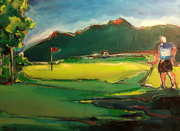 Golf Landscape 2012 40x51 Original Painting - David Banegas