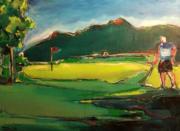 Golf Landscape 2012 40x51 Original Painting by David Banegas