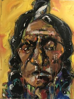 Chief Db 2012 54x42 Original Painting - David Banegas