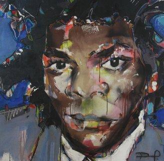 Basquiat 2012 41x43 Original Painting by David Banegas