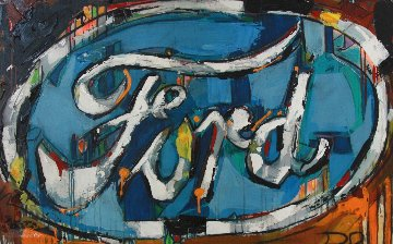 Ford 37x58 Original Painting by David Banegas