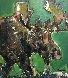 Moose 2012 51x45 Original Painting by David Banegas - 5