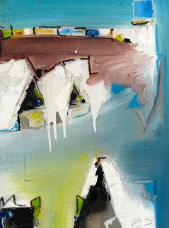 Abstract II 2012 48x21 Original Painting by David Banegas
