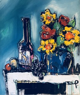Still Life 2013 52x42 Super Huge Original Painting - David Banegas