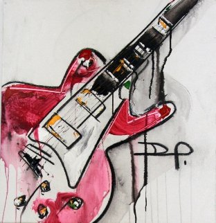 Guitar 2012 27x24 Original Painting - David Banegas