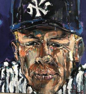 Mickey Mantle 2012 42x42 Huge Original Painting - David Banegas