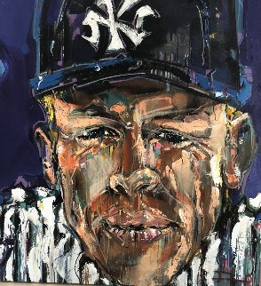 Mickey Mantle 2012 42x42 Original Painting by David Banegas