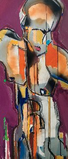 Solo Man #2 2012 51x22 Original Painting by David Banegas