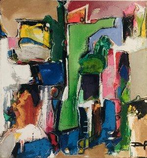 Abstract I 2012 42x39 Huge Original Painting - David Banegas