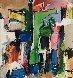 Abstract I 2012 42x39 Original Painting by David Banegas - 0