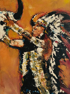Under the Sun 2007 79x31 Huge Original Painting - David Banegas