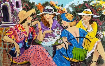 Garden Club 2003 24x36 Original Painting - Marcia Banks