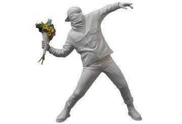 Medicom Banksy Flower Bomber Mixed Media Sculpture 2019 14 in2019 Sculpture by  Banksy