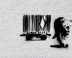 Barcode Unique 2015  22x26 Original Painting -  Banksy