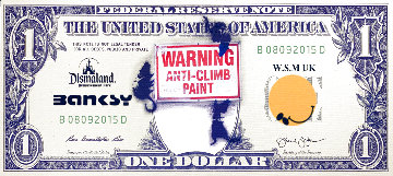 Dismal Dollar 2015 Unique 5x11 Limited Edition Print -  Banksy