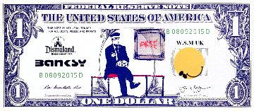 Dismal Dollar Unique 2015 5x11 Limited Edition Print -  Banksy