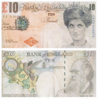 Di-Faced Tenner (10 GBP Note) 2004 Limited Edition Print -  Banksy