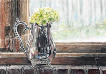 Silver Pitcher 2016 15x12 Original Painting - Camille Barnes