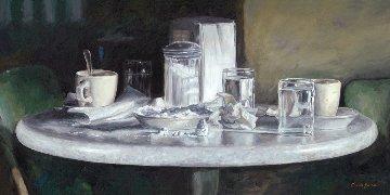 Dem' Beignets Were Good - New Orleans 2013 12x24 Original Painting - Camille Barnes