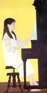 Girl at Piano 1973 Limited Edition Print by Will Barnet