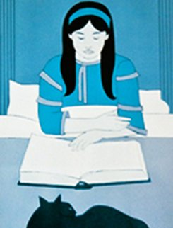 Child Reading Red AP Limited Edition Print by Will Barnet