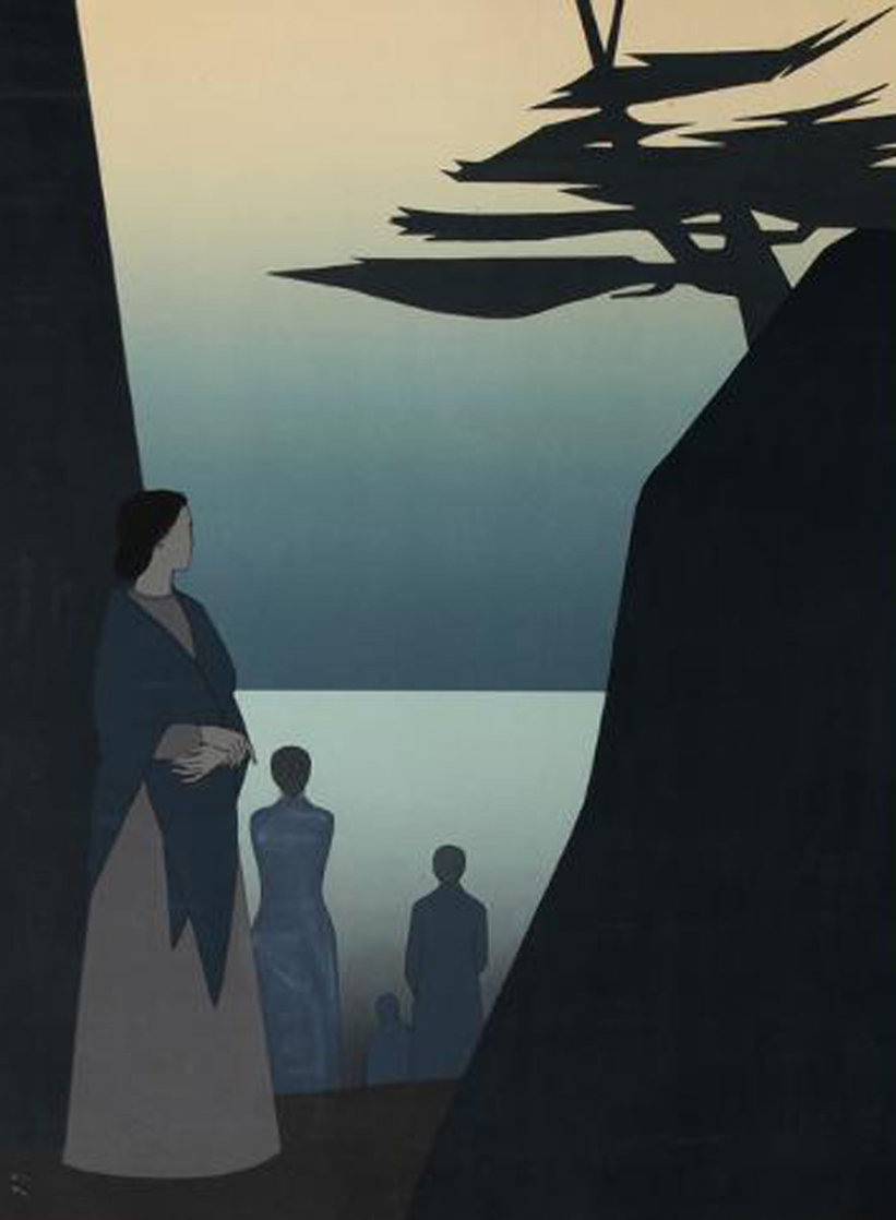Way to the Sea 1980 40x30 Super Huge  Limited Edition Print by Will Barnet