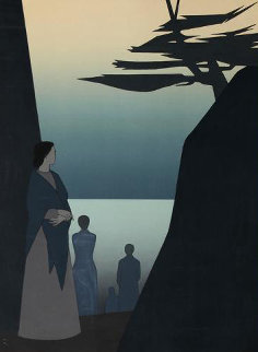 Way to the Sea 1980 40x30 Huge  Limited Edition Print - Will Barnet