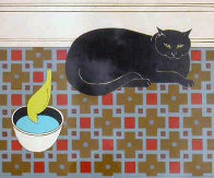 Cat and Canary 1980 Limited Edition Print by Will Barnet - 0